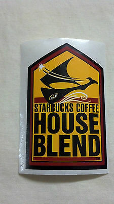 "STARBUCKS COFFEE, Sticker, HOUSE BLEND, 2"" x 1-1/4"""