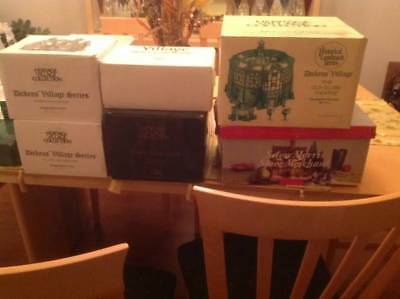 Department 56 Snow Village HUGE LOT Old & Rare/Retired Items 100+