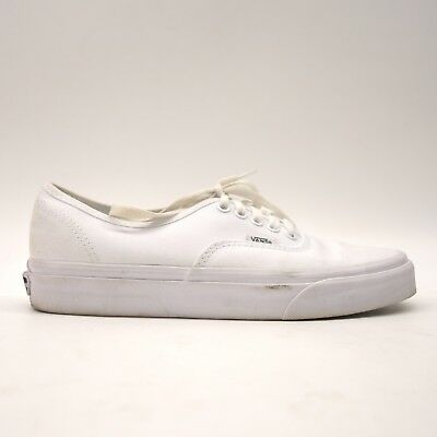 9bfe7d294392 Vans Womens True Solid White Classic Canvas Low Top Lace Up Sneaker Shoes  Sz 8.5