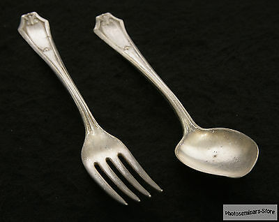 """Wm Rogers Vintage Silver Plated Collection (2) """"Fairmont"""" ca 1911 (#1354)"""