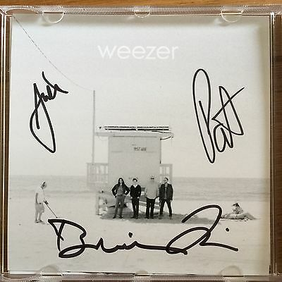 Weezer - The White Album Signed Cd Autographed