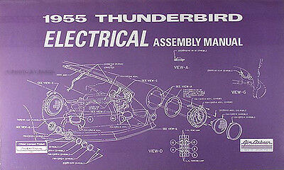 1955 ford thunderbird electrical assembly manual $17 99 thunderbird technical resource library