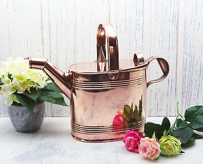 Antique copper watering can by Henry Loveridge & Co, 5 pint capacity, gardening