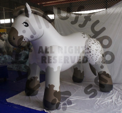 PuffyPaws Inflatable Belgian Draft Horse