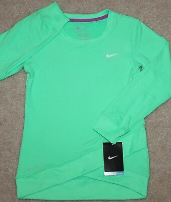 New! Girl Nike Sport Essentials Crossover Tunic (Dri-Fit; Green) - Size 5, 6, 6X