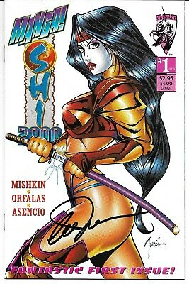 Manga Shi 2000 #1 Signed by Billy Tucci Crusade Heaven & Earth Sneak Preview