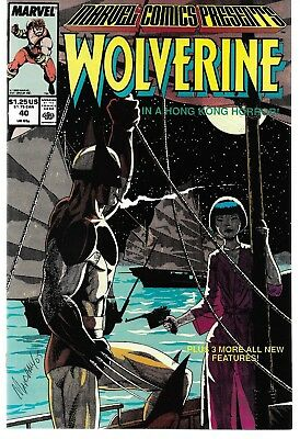 Marvel Comics Presents (1988) 40 Signed by Marshell Rogers Autographed Wolverine