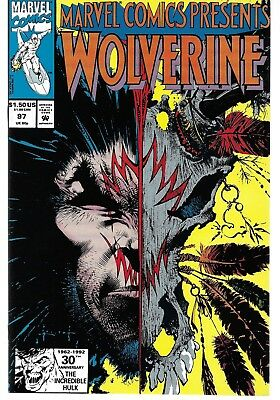 Marvel Comics Presents (1988) 97 Signed by Todd Fox Autographed Wolverine Cable