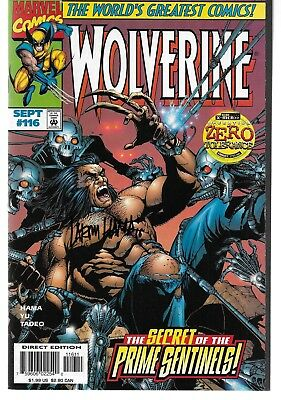 Wolverine (1988) #116 Signed by Larry Hama Autographed