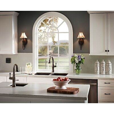 Delta Bronze Cassidy Pull Down Kitchen Faucet and Pull-Out Bar Faucet D080CR