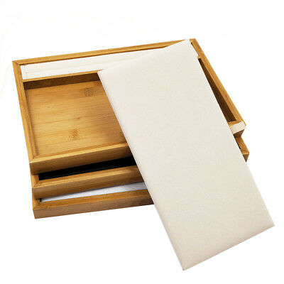 Solid Bamboo Wood Jewelry Display Box PU Leather Lining for Rings Bracelets
