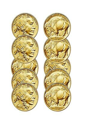Lot of 10 Gold 2019 American buffalo 1 Troy oz Bullion $50 US Mint Coins
