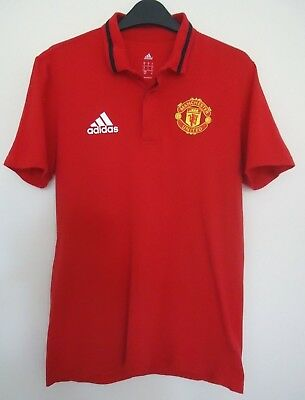 Manchester United Official Polo Shirt By Nike Size Small