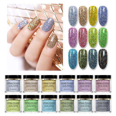 BORN PRETTY 10ml Holographic Dip System Dipping Powder Natural Dry Nail Art Kit