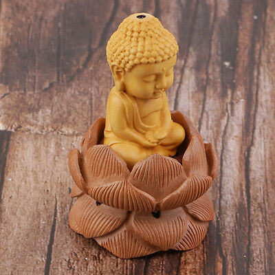 Wooden Buddha Tathagata Sculpture Buddhism Statue Chinese Carved Figurine