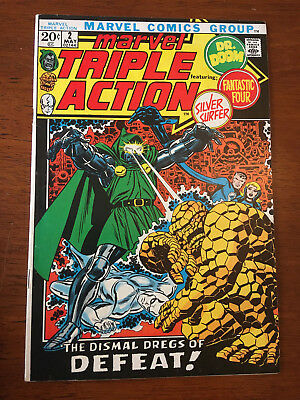 Marvel Triple Action # 2 Fine/vf Marvel Comics 1972 Fantastic Four # 58