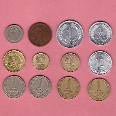 Chile (1933-1979) - Coin Collection Lot - World/Foreign/South America