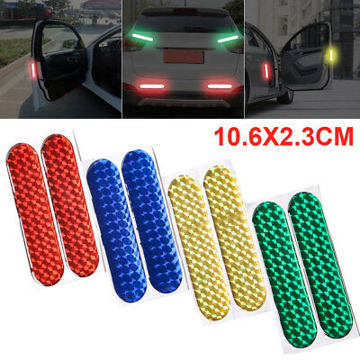 2Pcs Safety Mark Reflective Strips Car Door Sticker Warning Tape Decal Accessory
