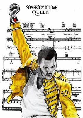 "Freddie Mercury QUEEN Somebody To Love Sheet Music    FRIDGE Magnet 2.5"" x 3.5"""