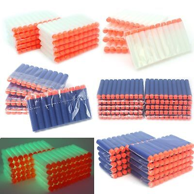 Soft Darts Round Head Bullets Blasters For Nerf N-strike Toy Guns 5colors 100pcs