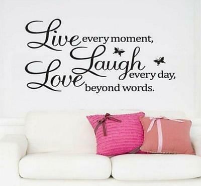 Removable Vinyl Art DIY Quote Wall Decal Stickers Bedroom Decor Murals FM