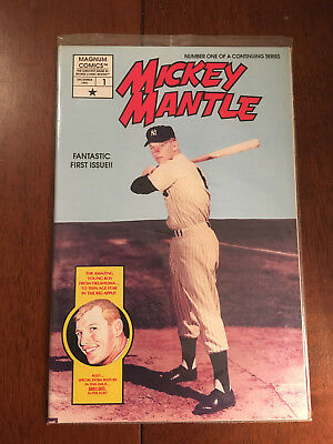 Mickey Mantle # 1 Near Mint Ploybagged With Sibby Sisti Card Magnum Comics 1991