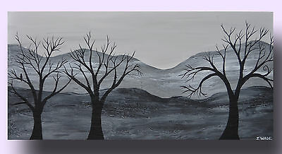 Abstract Modern Landscape Painting Textured Art Canvas by J. Wade Free Shipping