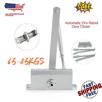 65-85KG Adjustable Aluminum Commercial Door Closer Two Independent Valve Control