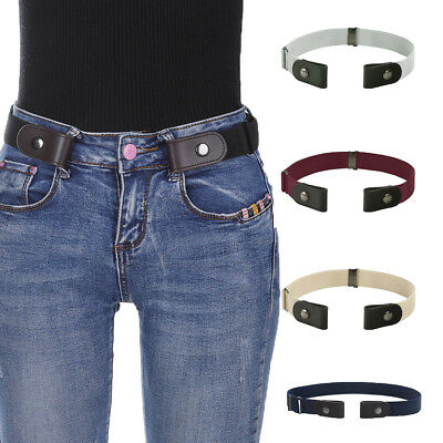 Women's Buckle-Free Elastic Waist Belts Invisible Belt for Jeans No Bulge Hassle