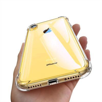 Fits Iphone XS Max XR Case Clear Hybrid Shockproof Bumper TPU Cover