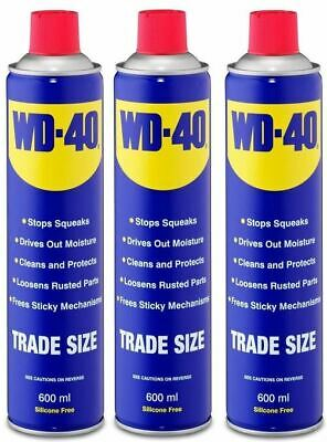 WD40 44010 Multy-Use Aerosol Spray Stops Squeaks Cleans & Protect Kit 600ml x 3