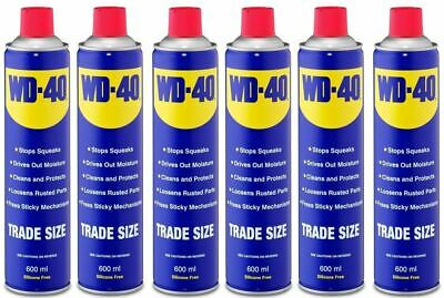 WD40 44010 Multy-Use Aerosol Spray Stops Squeaks Cleans & Protect Kit 600ml X 6