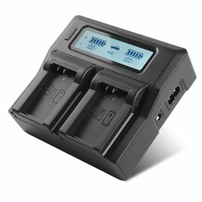 Dual Channel Charger LCD Display For Nikon EN-EL20/22 Battery