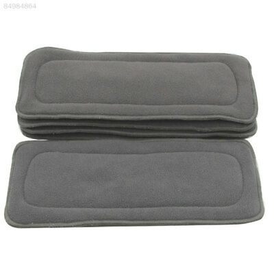 A1FB 1PC 4 Layers Soft Reusable Baby Bamboo Charcoal Cotton Liners For Cloth Dia