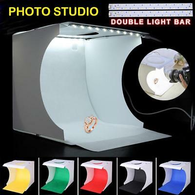 Light Room Photo Studio Photography USB Dual LED Lighting Tent Backdrop Cube Box