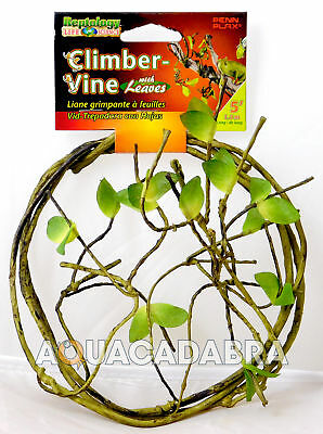 PENN PLAX REPTOLOGY VINE 5' 1.5m CLIMBER WITH LEAVES FLEXIBLE REPTILE AMPHIBIAN
