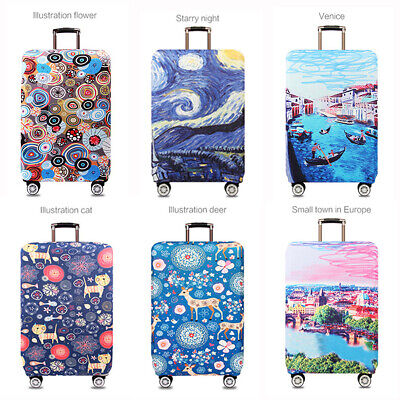 "18-32""Travel Luggage Suitcase Cover Protector Elastic Scratch Dustproof Bag"