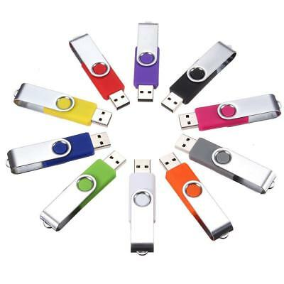 2/4/8/64GB Metal USB 2.0 Flash Drive Memory Stick Pen U Disk Swivel Key Thumb PC