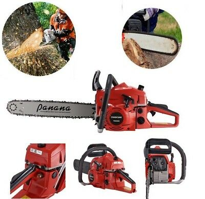 """2019 Baumr-AG 62cc Petrol Commercial Chainsaw 20"""" Bar E-Start Pruning Chain Saw"""