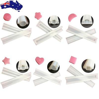 Tube Column Mold Heart 6 kinds Silicone Templet Hand Craft DIY Candle Soap Mould
