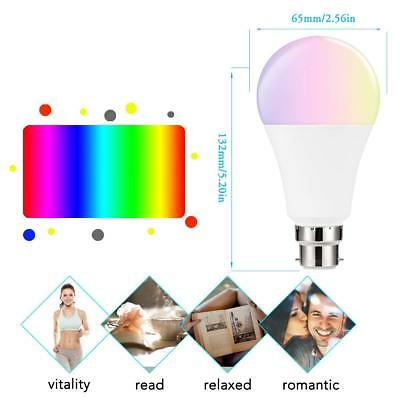 2 x WiFi Smart B22 LED 7W Compatible with Alexa and Google home