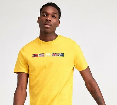 Mens Helly Hansen Sovereign Short Sleeved Yellow T-Shirt RRP £29.99