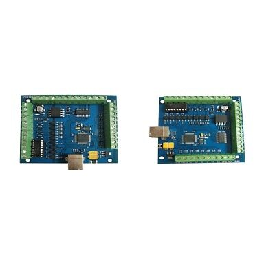 2x CNC  USB 4-AXIS Smooth Stepper Motion Card Controller Breakout Board