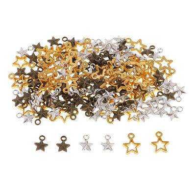 150x Lots Mixed Alloy Star Charm Beads Pendant DIY Bracelet//Necklace//Earring