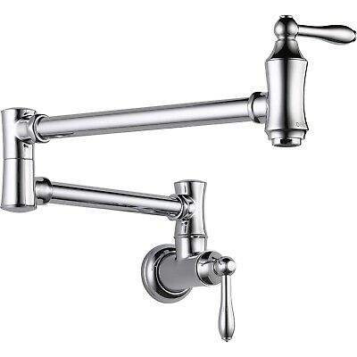 Delta Traditional Kitchen Wall Mounted Chrome Potfiller Faucet 535199