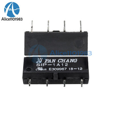 5PCS SIP-1A12 12V Relay Reed Switch Relay 4PIN for PAN CHANG Relay
