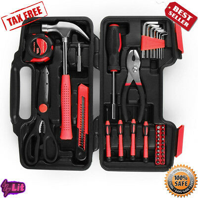 Tool Set Box Hand Tool Kit & Accessories For General Household and Home Repair