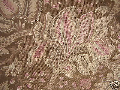 Indienne design old Antique French curtain panel printed cotton drape c1890