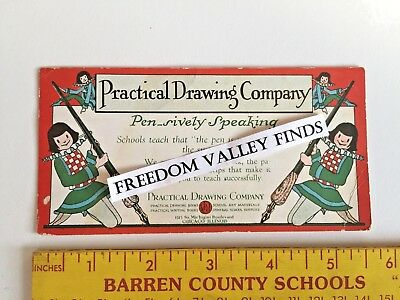 Vintage Chicago Illinois Ink Blotter Advertising Practical Drawing Co Art