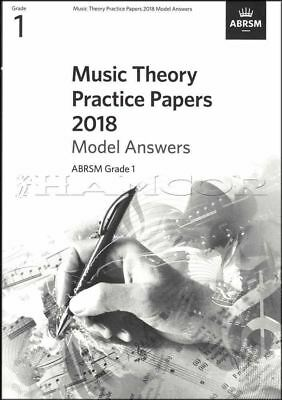 Music Theory Practice Papers 2018 Model Answers ABRSM Grade 1 SAME DAY DISPATCH